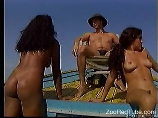 Real female zoophile and trained doggy have awesome outdoor animality