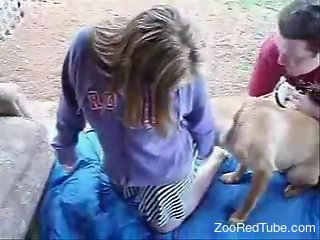 College girl decides to get fucked by a horny dog